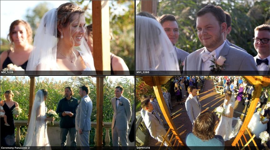 4 + camera angles of the ceremony