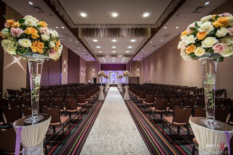 Midwest Conference Center - wedding ceremony setup