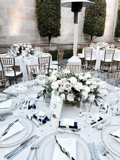 Off white, rustic, romantic, elegant.