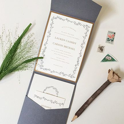 Dancing Ivy, Fully Customizable Invitation