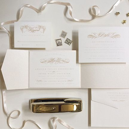 Flourished Script, Fully Customizable Invitation