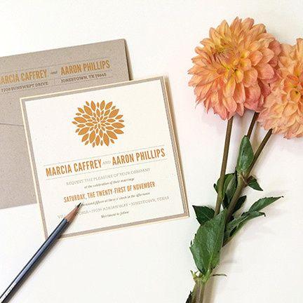 Petal Burst, Fully Customizable Invitation