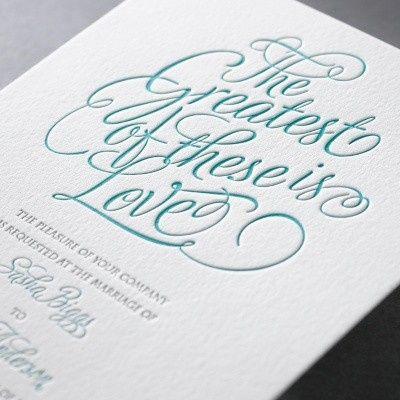 Love's Splendor Letterpress Invitation