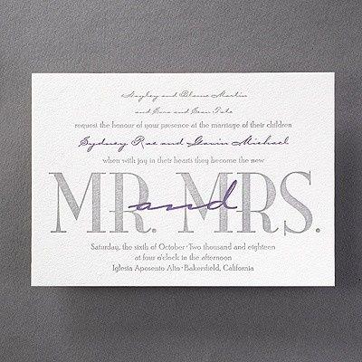 Good Together Letterpress Invitation