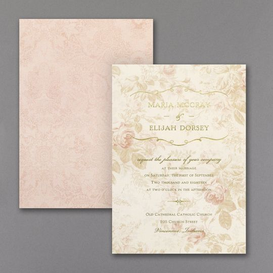 Wrapped Up in Vintage - Invitation