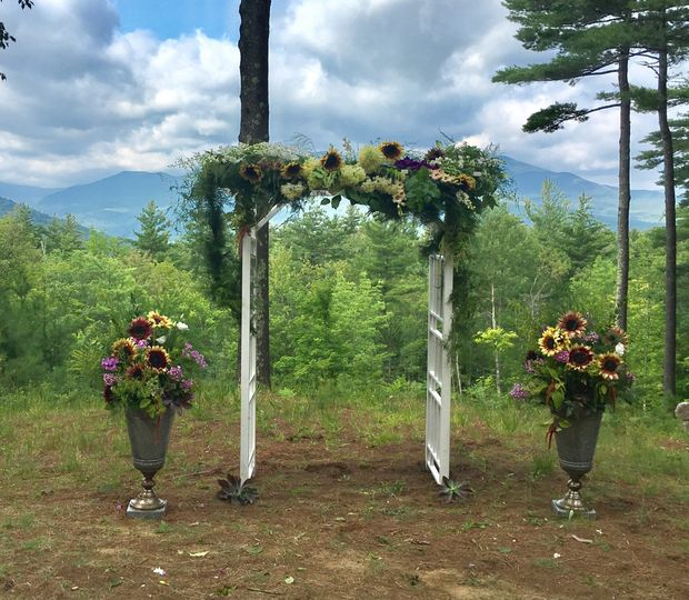 Floral wedding arch decor