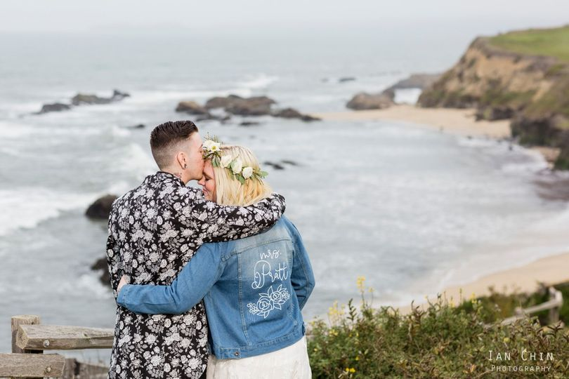 Bride & groom: Half Moon Bay