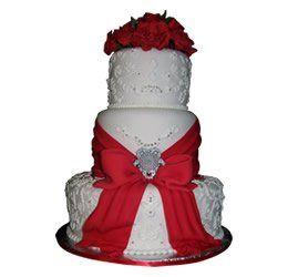Tmx 1286686043362 Redribbons La Jolla wedding cake