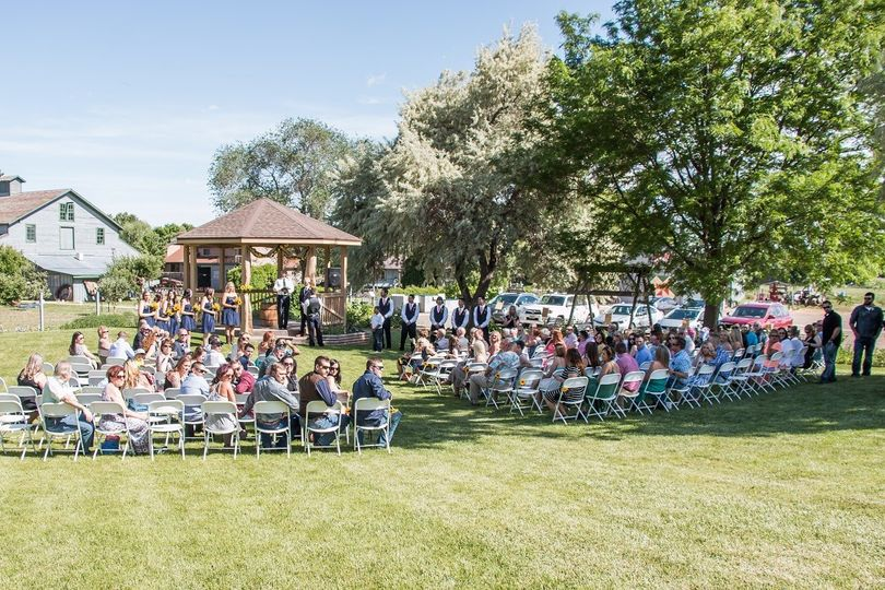 Wedding ceremony on the lawn