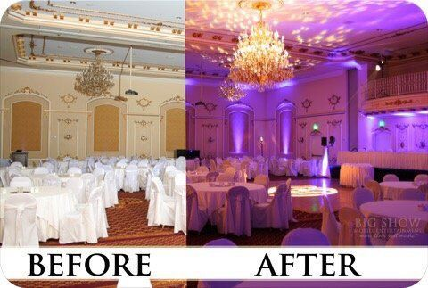 Uplighting Before/After