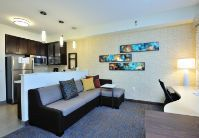 Each suite features a living area to relax and unwind.
