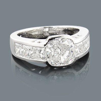 custom made engagement ring 540ct cushion cut cent