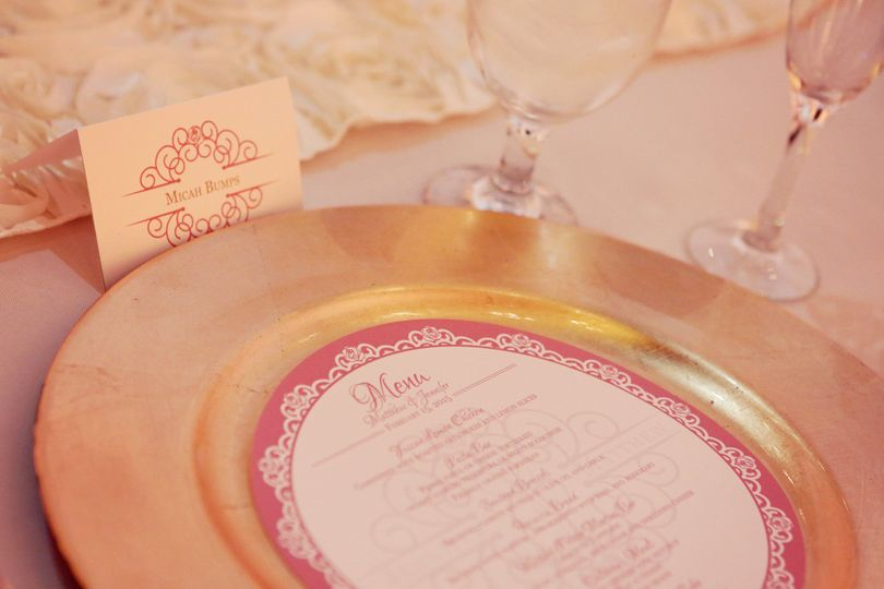 Custom Menu and Place Card