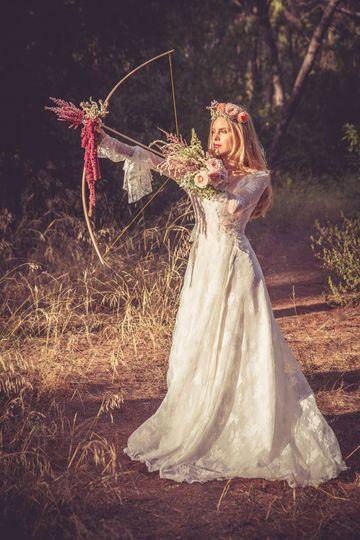 Gorgeous bride getting wild