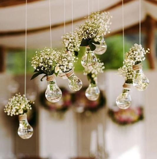 Hanging floral details