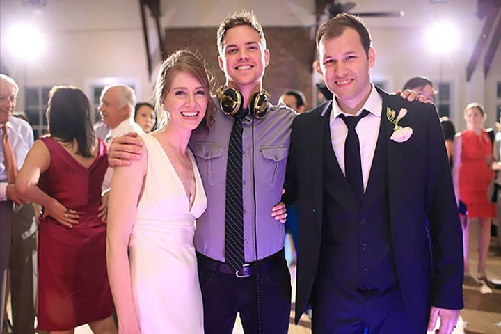 The couple and the DJ