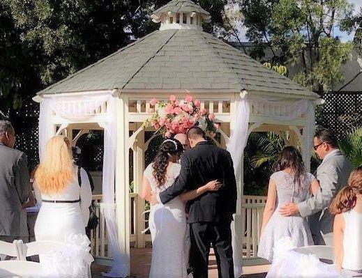 Romantic Gazebo Ceremony