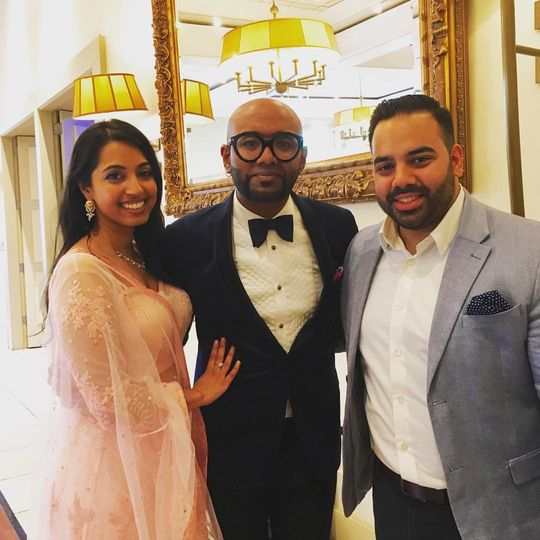 Superstar singer Benny Dayal alongside DJ Insomnia at their engagement party!