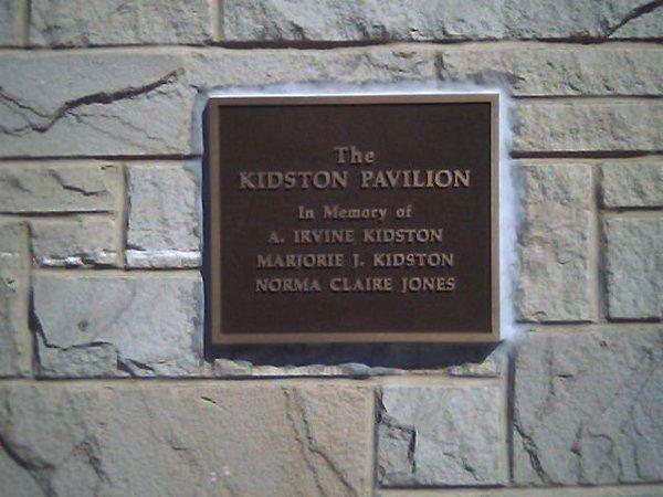 Plaque for the Kidston Pavillion