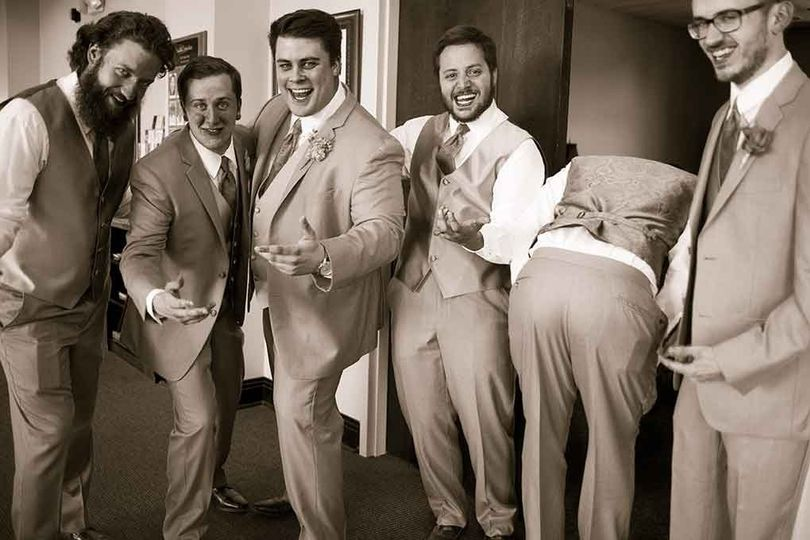 Oh those Groomsmen you never know what they will do. lol