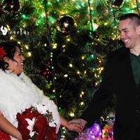 Christmas themed pop up wedding