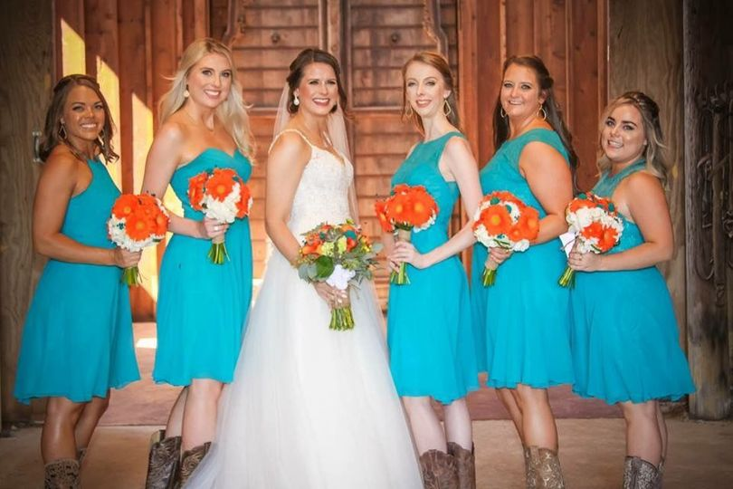 Bride and her bridesmaids | Photo credit VIP Creative Productions