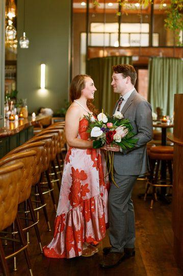 Tiki bar wedding