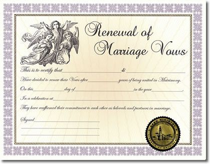 wedding anniversary certificate template - risinghawk ministries officiant racine wi weddingwire
