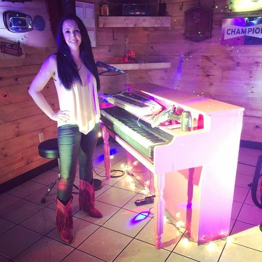 The pink piano