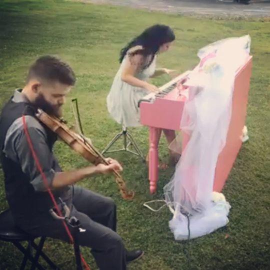 Outdoor wedding performance