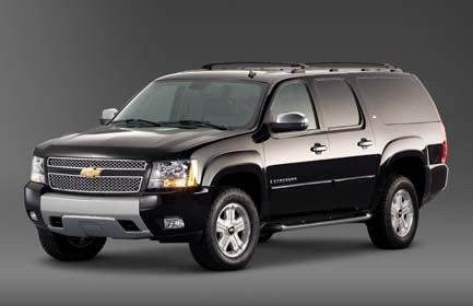 SUV seats up to 5 passengers: Black exterior with tan leather interior. AM/FM/CD stereo and tinted...