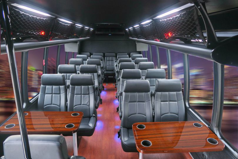 Interior Minibus - 27 passenger. The perfect vehicle for transporting guests to and from the hotel,...