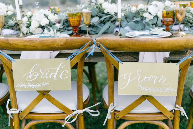 Newlyweds chairs