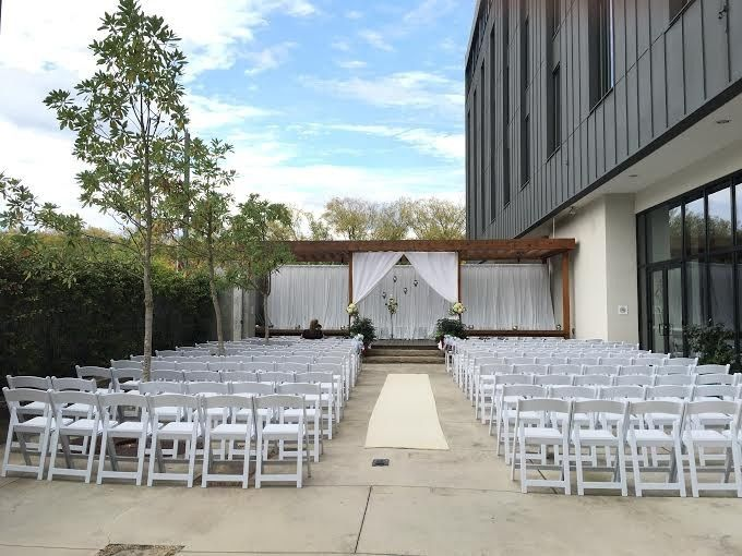 Wedding venue setup