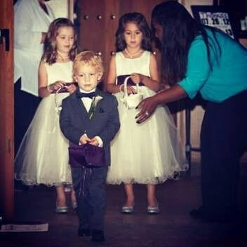 Kids during the recessional