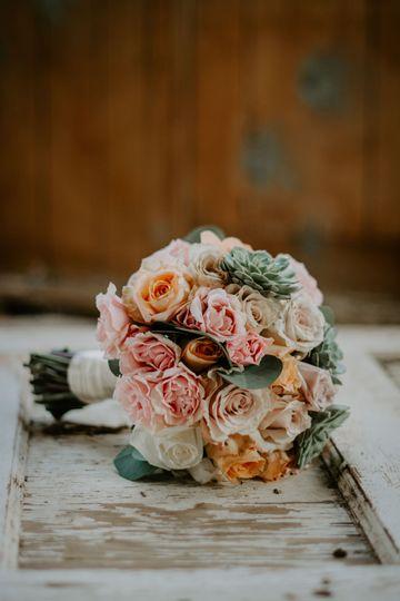 Round wedding bouquet