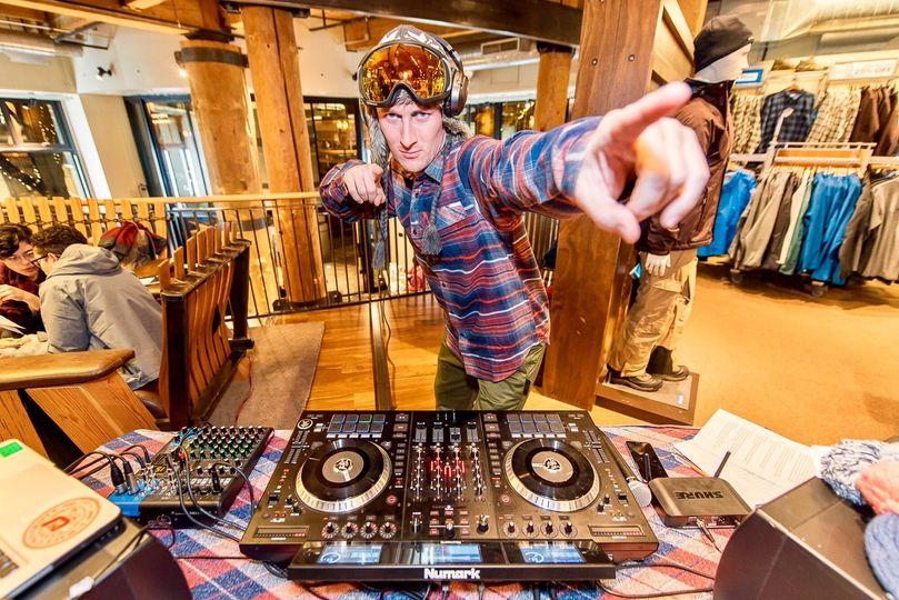 Wedding DJ in full swing