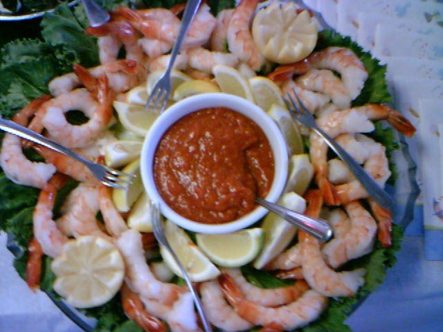 Shrimp Cocktail Platter from Captain Brien's Seafood and Raw Bar Catering Event