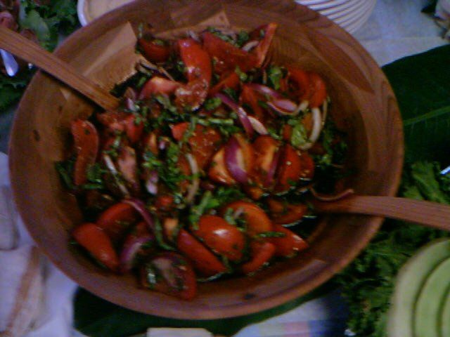 Tomato Salad at Capt. Brien's Seafood  in Marco Island, Fl