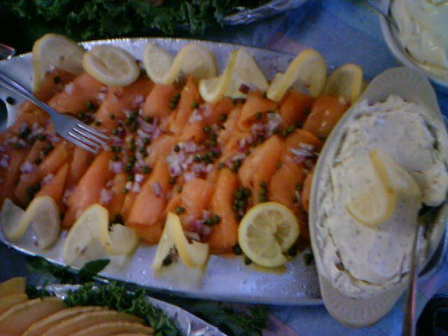 Smoked Salmon Platter at Captain Brien's Seafood and Raw  Bar