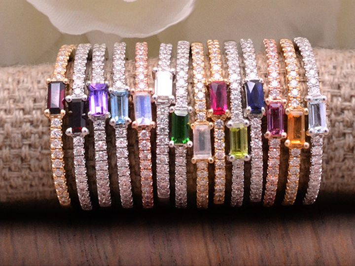 Tmx 1467828750049 Birthstone Stackables Dallas, TX wedding jewelry