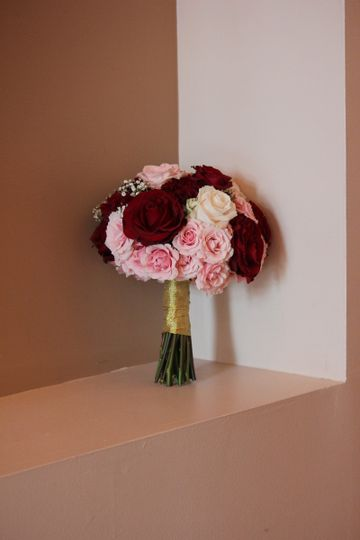 All Rose Bridesmaid Bouquet