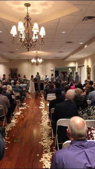 indoor ceremony