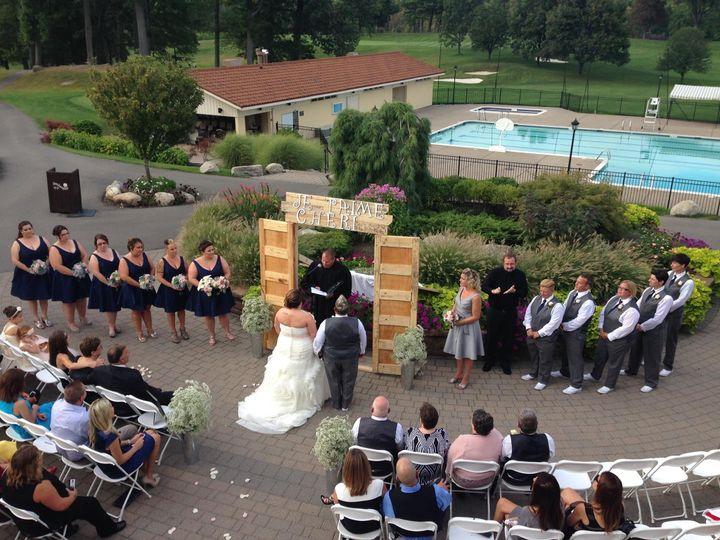 Tmx 1486755286688 Courtyard Ceremony Rochester, NY wedding venue