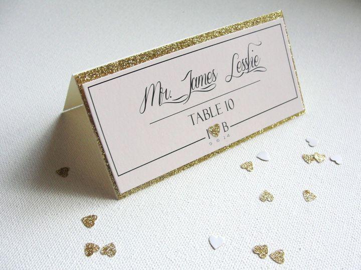 Tmx 1414008383385 Samples   Glitter Hearts 016 Middle Village wedding invitation