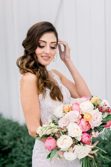 A Bride Happy with her Look