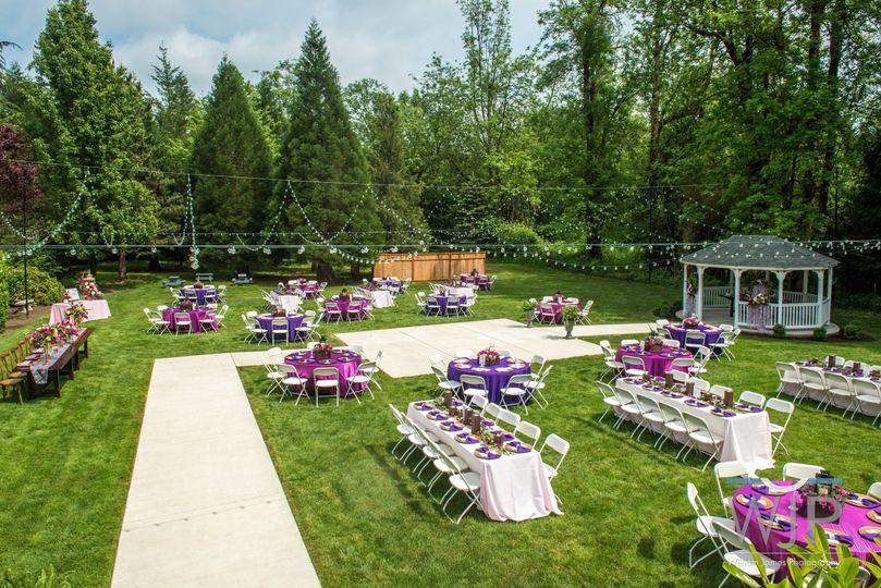 Grand gazebo reception site