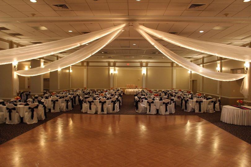 Wide dance floor