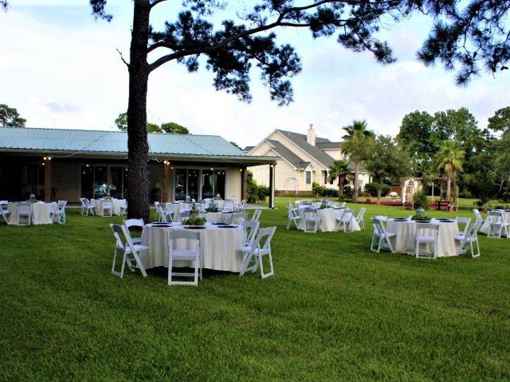 Tmx Reception Table Setup Under The Trees Facing Patio July2020 51 127672 159424133556713 Kemah, TX wedding venue