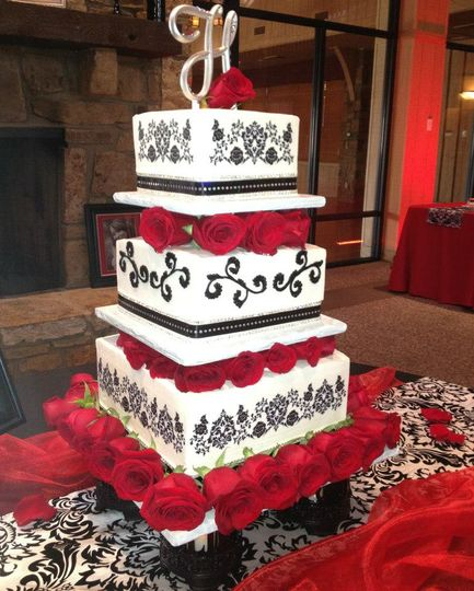 Stacked wedding cake
